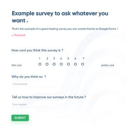 Example survey to ask whatever you want
